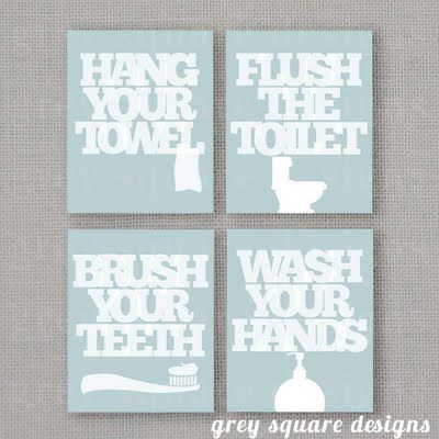 This free set of bathroom printables fit perfectly in the ikea ribba frame from Ikea.
