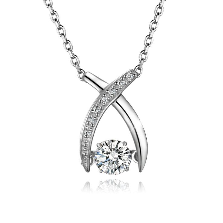 62 best necklace with swarovski zirconia cubic zirconia pendant amazon t400 jewelers 925 sterling silver dancing stone design swarovski zirconia x aloadofball Choice Image