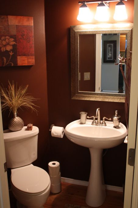 Dark Color W/pedestal Sink.