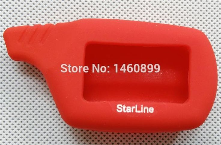 Funda de silicona, Compatible con 2 Vías de Alarma de Coche Sistema de Control Remoto del Llavero Cadena B6 B9 Starline A61 A91 B91/B61/V7