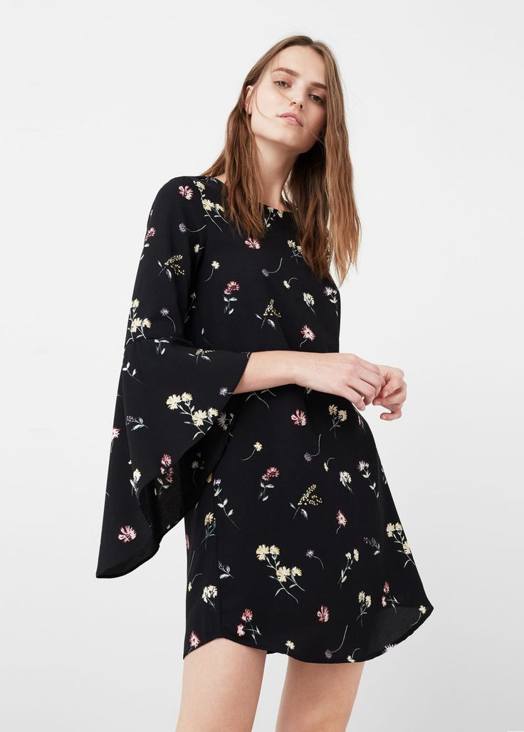 Robe manches cloche - Robe pour Femme | MANGO France