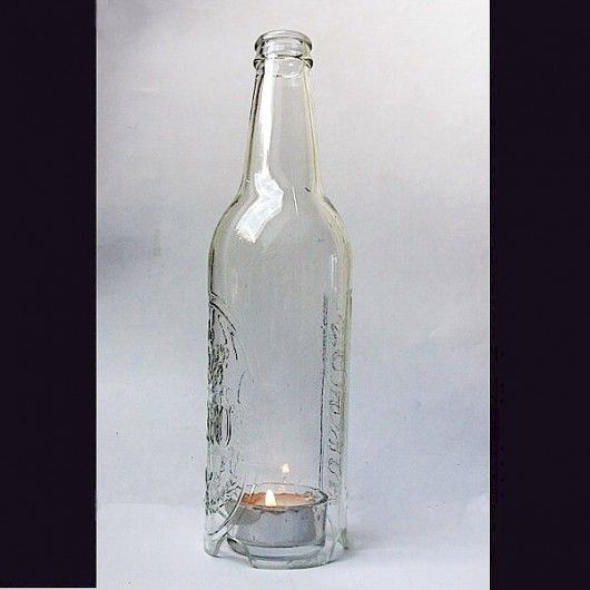 Eko-świecznik z butelki po piwie. Designerski / Eco-candlestick made of beer bottles. ECO-Design
