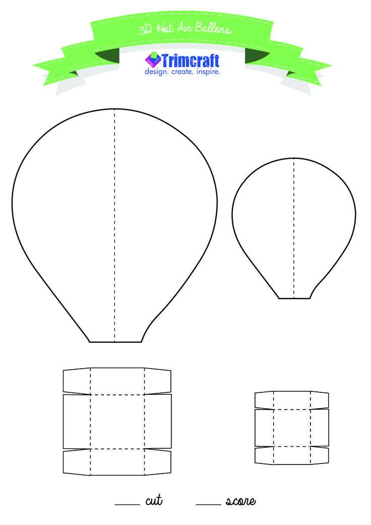 We love these cute Hot Air Balloons, see how to make them on the website with our free template http://www.trimcraft.co.uk/articles/handmade-3d-paper-hot-air-balloons-with-free-template