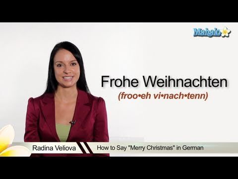 How to say Merry Christmas in German & other words