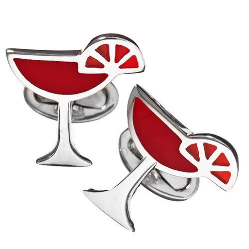 Red Martini Cufflinks