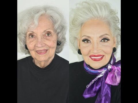Maquillaje Hollywood Glam Piel Madura para Abuelas - YouTube