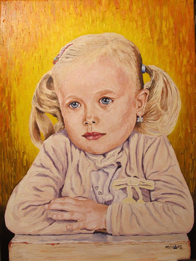 Nela #2 by Peco Art ... Oil on canvas, 30x40cm ...