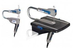 Sega a traforo Dremel MS 20 JA, con utilizzo stazionario e mobile.