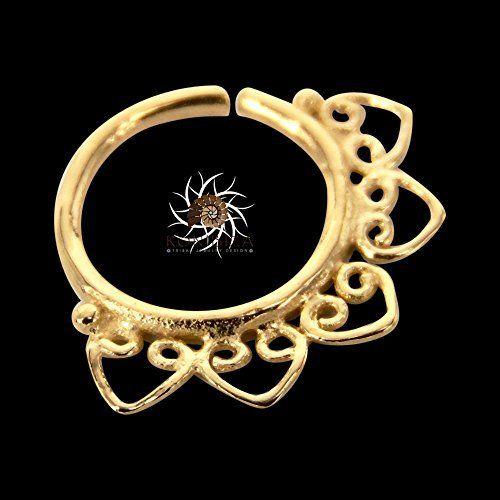 Anillo de nariz de oro - aro de nariz de oro - anillo de la nariz de la India - anillo de la nariz tribales - nariz de la joyería - piercing en la nariz - nariz pequeño anillo - nariz joyas - anillo de nariz - joyas piercing
