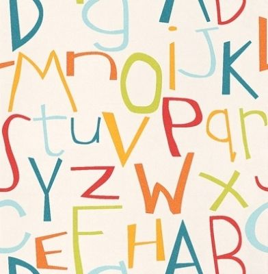 Alphabet (8565-17) - Albany Wallpapers - A sweet alphabet design with ...