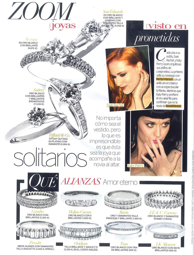 Zoom   Editorial by Vogue España   Ring from white gold with diamonds by Gayubo