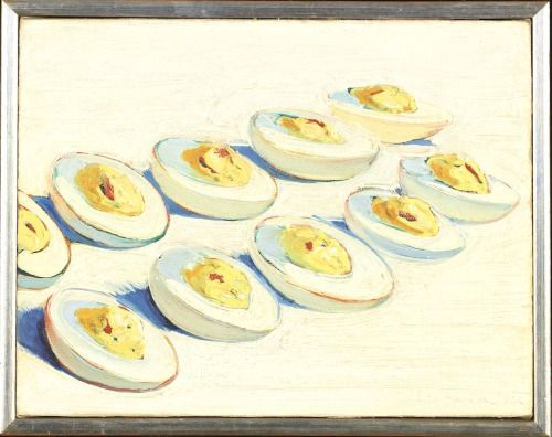 "ronulicny: "" ""Deviled Eggs"", 1962 By: WAYNE THIEBAUD…. """