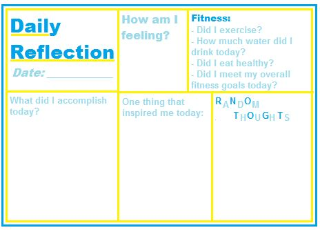 here is an updated version of my daily reflection template