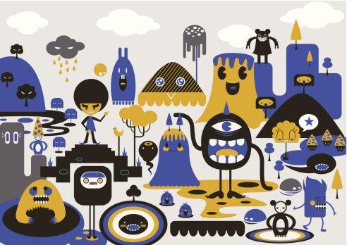 Clipart vectoriel : cartoon characters