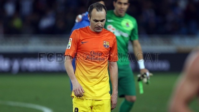Iniesta, FC Barcelona | Real Sociedad 3-2 FC Barcelona. [2013-01-19]