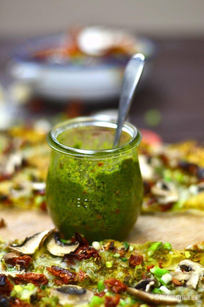 Flammkuchen & Rucola Macadamia Pesto | Das Knusperstübchen