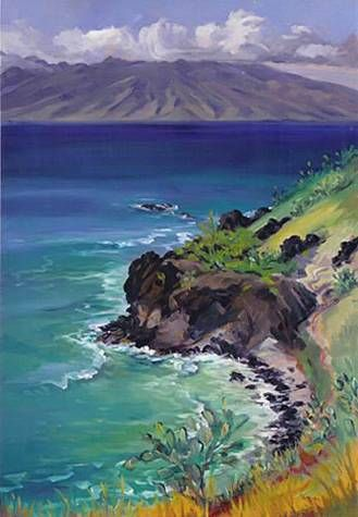 """""""Honolua Bay"""" by Janet Spreiter at Maui Hands"""