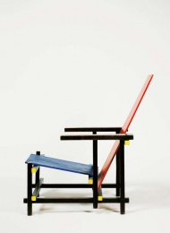 Red And Blue Chairby Gerrit Rietveld, 1917.