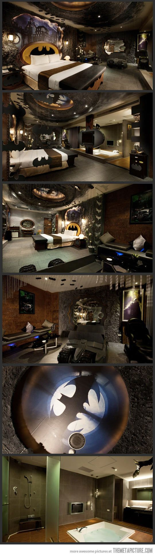 Batman Motel in Taiwan. read about this before. they charge by the *cough* hour