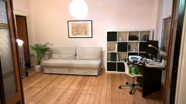 Pink white black minimalist office/spare bedroom. Copper and white marble accents. IKEA furniture.