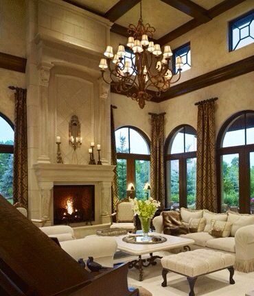 Living Room With A Cream Palate Love The Drapes