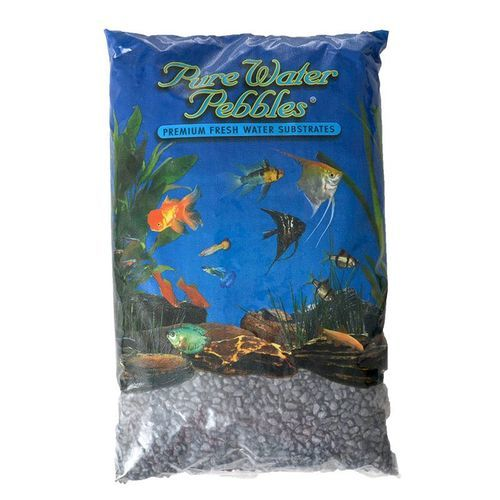 Pure Water Pebbles Aquarium Gravel - Black Frost : 25 lbs (8.7-9.5 mm Grain)