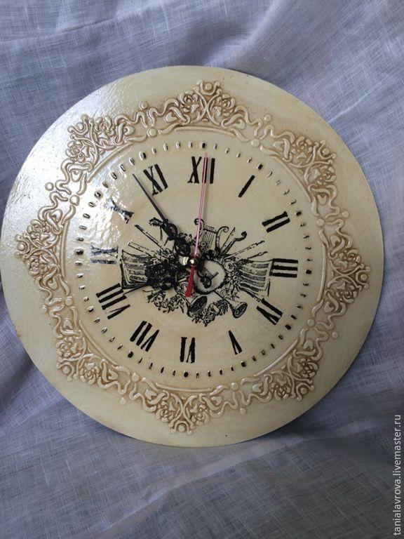 """Купить Часы настенные """"Музыкант"""" - Декупаж, интерьер, часы, часы настенные, часы интерьерные"""