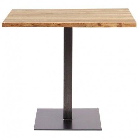 Mesa de restaurante en metal y madera Thin Rochester