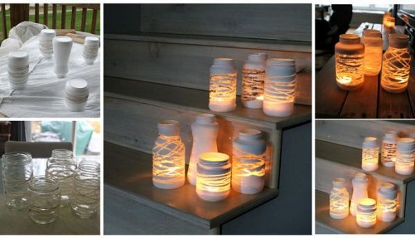 DIY Yarn Wrapped Jam Jars | Home Design, Garden & Architecture Blog Magazine