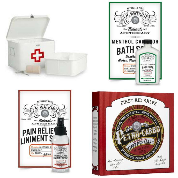 "Medicine Box with ""JR Watkins Naturals"" Medicinal Products 