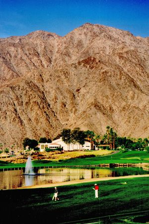 La Quinta, California  The mountains are Right there! La Quinta at the base.