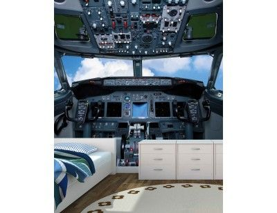"Mural ""Cockpit"". A wallpaper mural from Muralunique.com. http://www.muralunique.com/cockpit-7-5-x-7-5-2-29m-x-2-29m.html"