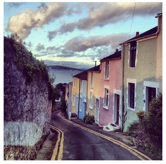 Colourful houses - Mumbles, Swansea. Photo: Dominique Boho