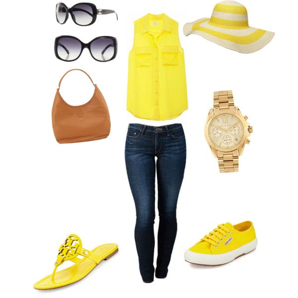 Cookout outfit by jayhol on Polyvore featuring polyvore, fashion, style, Equipment, THVM, Tory Burch, Superga, Michael Kors and Dorothy Perkins
