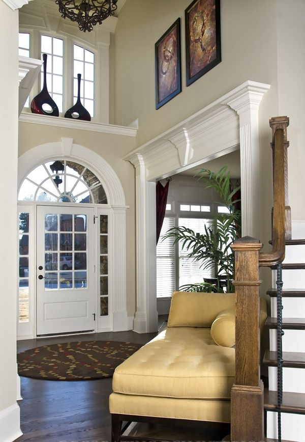 Ledge casing on side room stairs & 7 best Ledge above front door images on Pinterest | Centerpiece ...