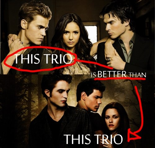 The Vampire Diaries is certainly better than Twilight ... Vampire Twilight 5