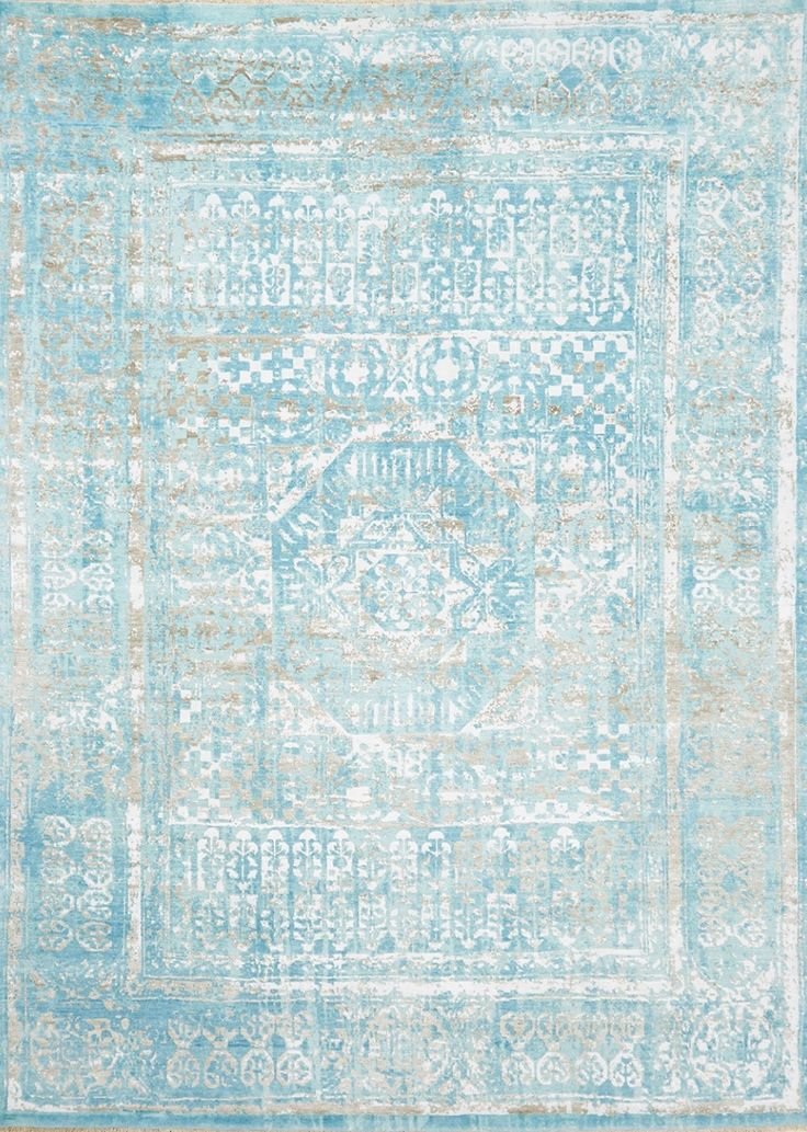 Silk Rug - Erased Silk MOD1505 hand knotted and carved in India using 100% New Zealand Wool and Art Silk