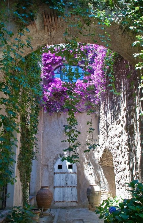 Castle Courtyard, Italy