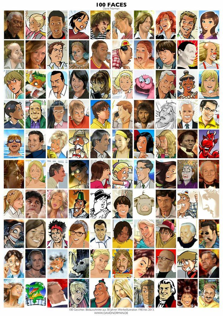 100 Faces. Als Poster erhältlich auf meiner Webseite: goo.gl/jvgwQl
