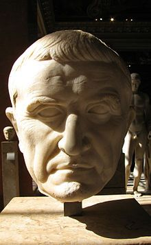 Bust of Marcus Licinius Crassus from The Louvre, Paris.