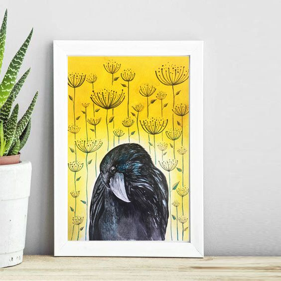 A personal favorite from my Etsy shop https://www.etsy.com/listing/491058552/the-raven