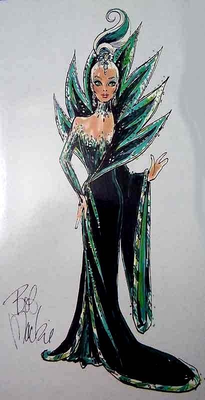 Bob Mackie Neptune Fantasy Barbie Illustration