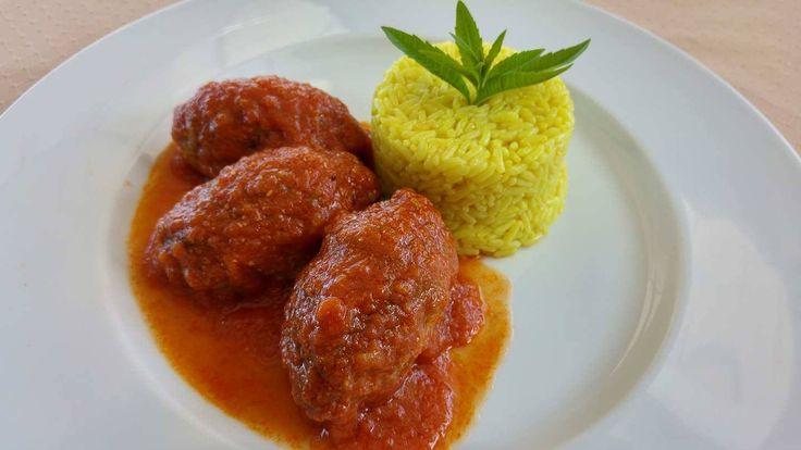 Greek Soutzoukakia, Mnistires Restaurant, Odyssey hotel, Agia Efimia, Kefalonia, Greece