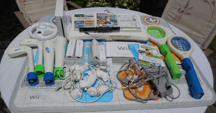 $250.00 & Ships Priority Mail Free Within One Business Day! HUGE Nintendo Wii Bundle ~ Console+4 Controllers+1 Wheel+Wii Fit+Board+Much More #Nintendo