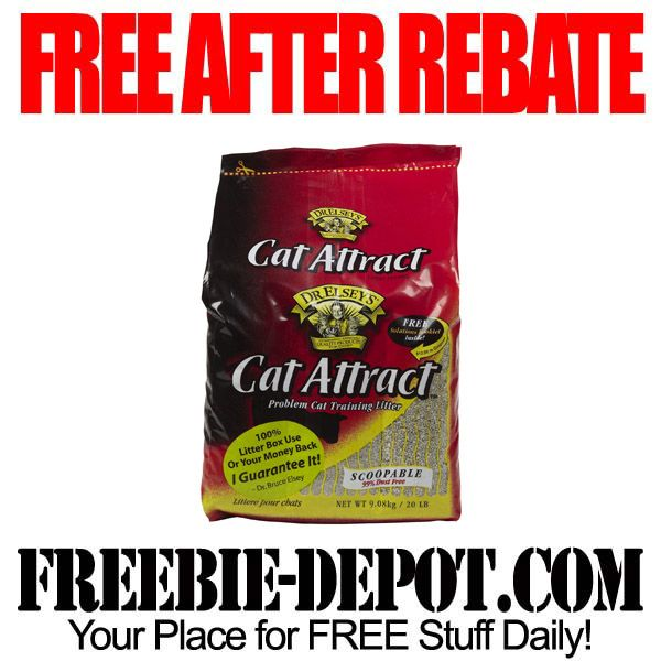 ►► FREE AFTER REBATE - Cat Litter - FREE Full Size Bag of Kitty Litter from Dr. Elsey's ►► #FreeAfterRebate, #FreeStuffForCats, #FREEbate ►► Freebie-Depot