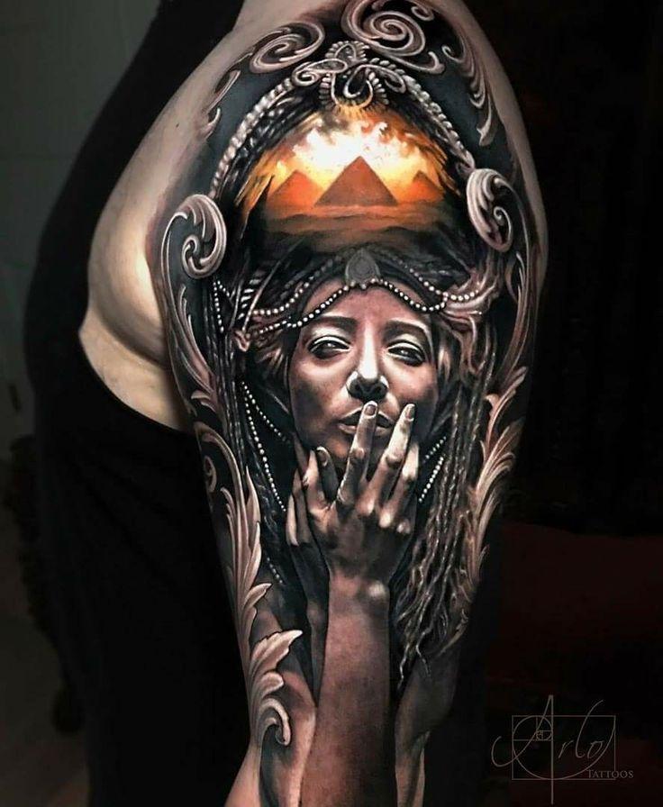 Realistic 3D tattoo