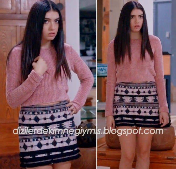 Medcezir - Eylül (Hazar Ergüçlü), Topshop Sweater and Skirt