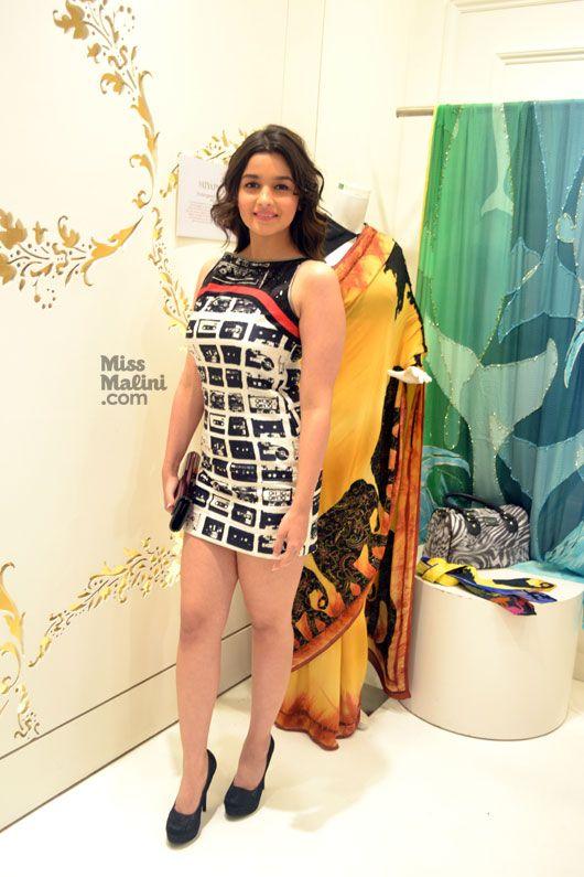Alia Bhatt in a Little Printed Dress