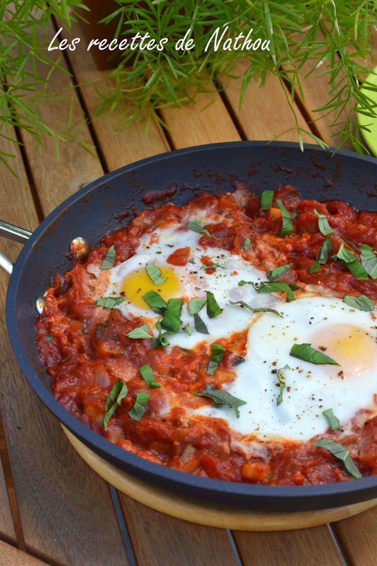Tchoutchouka aux oeufs : - tomate - courgette - oeuf Pour nos repas du soir en amoureux :-) @raphaellemalaspina