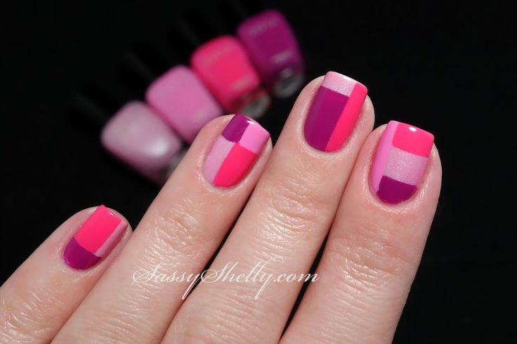 Zoya color block manicure